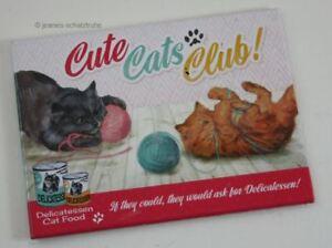 AIMANT-de-Refrigerateur-Cute-Cats-Club-Chat-Animal-Club-Genre-Nostalgique