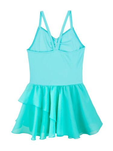 Toddler Girls Gymnastics Leotards Dress Ballet Dance Tutu Skirts Dancewear Tops