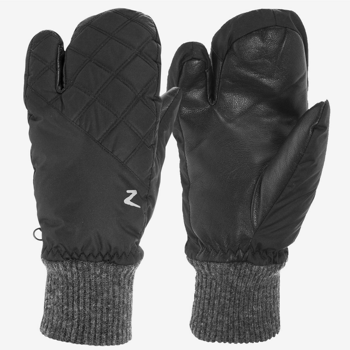 Horze Padded 3-Finger Winter Riding  Mittens with Leather Grip Palm  with cheap price to get top brand