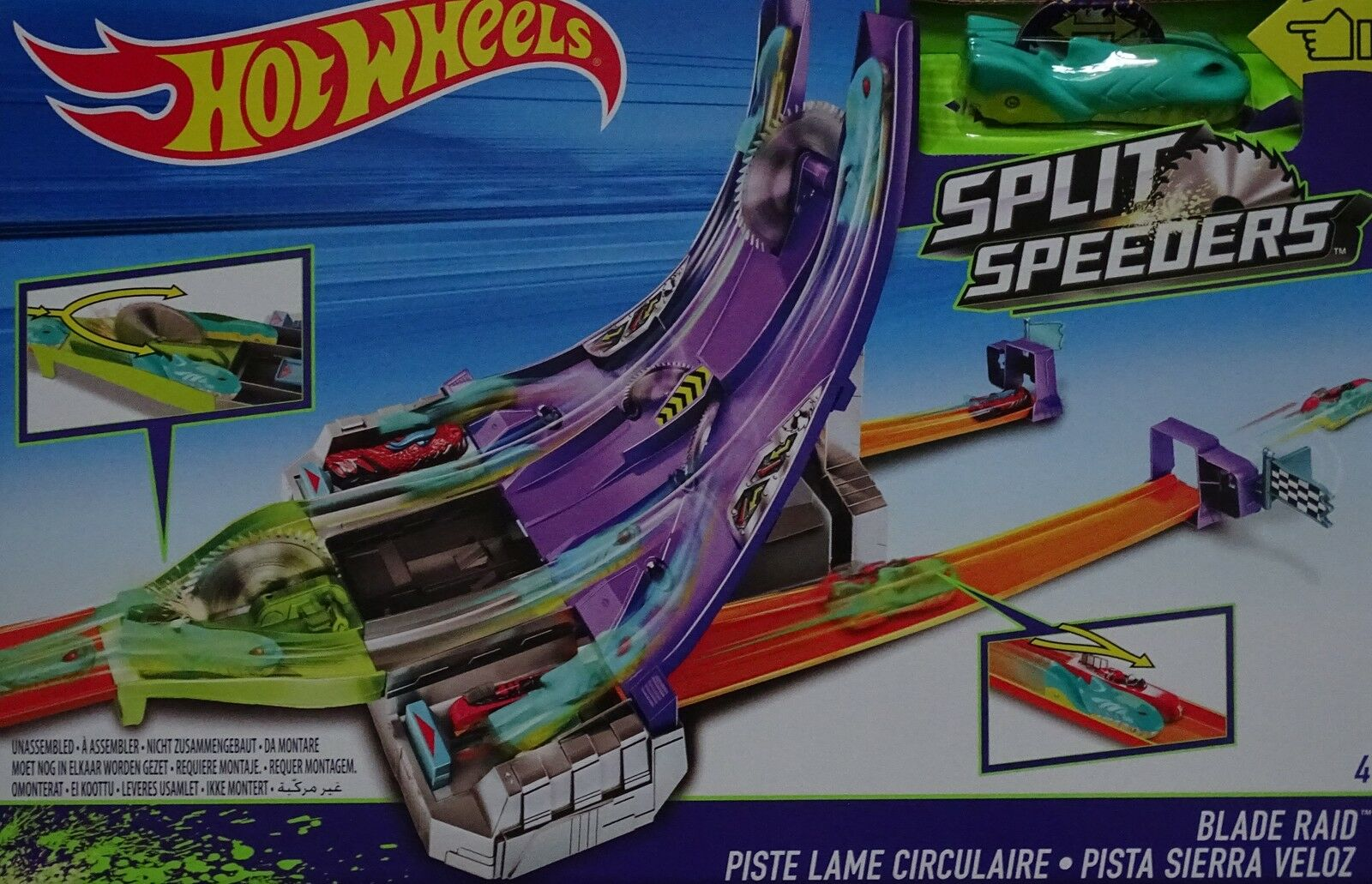MATTEL® DHY27 HOT WHEELS® Split Speeders™ Blade Raid™ mit 1 Auto