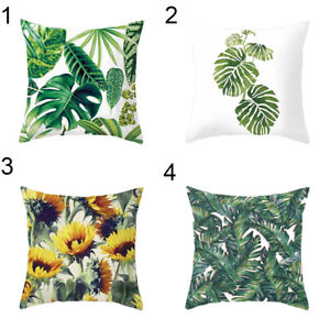 Am-Green-Leaves-Polyester-Pillow-Case-Throw-Sofa-Cushion-Cover-Home-Decor-Eyefu