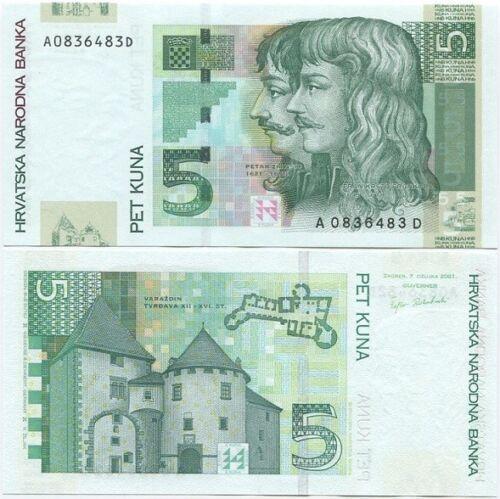 Croatia 5 Kuna 2001 UNC P-37