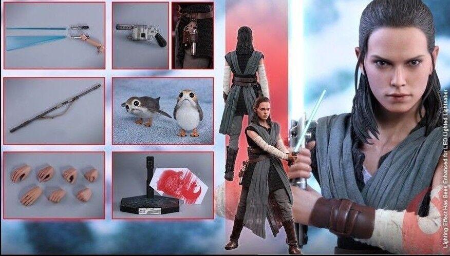 Hot Toys Toys Toys 1 6 Star Wars VIII 8 The Last Jedi Rey Jedi Training MMS446 c55b3b