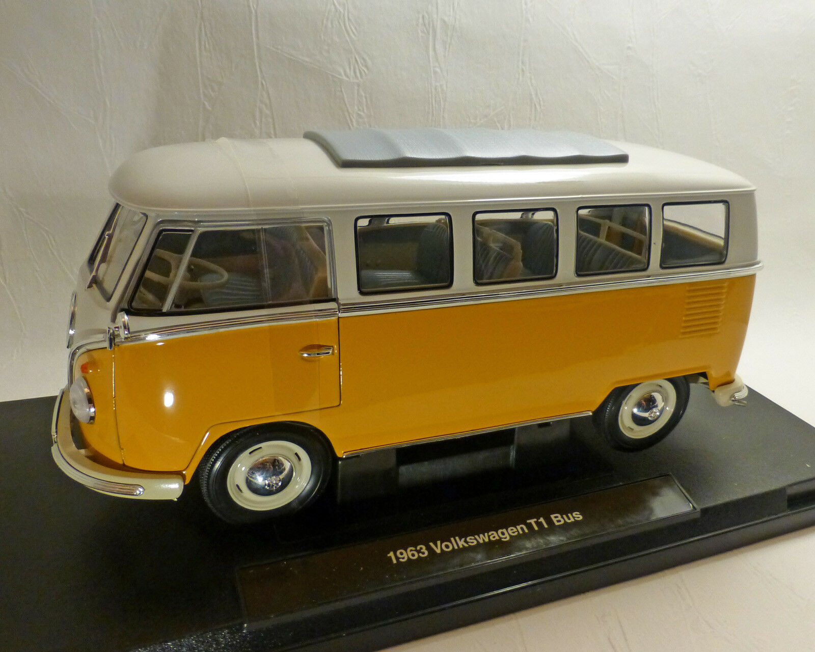 VW t1-bus, t1-bus, t1-bus, 1963, jaune 1 18, Welly 0ebf8b