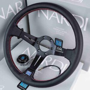 Universal-14-in-environ-35-56-cm-350-mm-Daim-auto-racing-steering-wheel-deep-corn-Drifting-ND