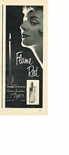 PUBLICITE ADVERTISING 024   1957   HARRIET HUBBARD AYER  cosmétiques  FLAME RED