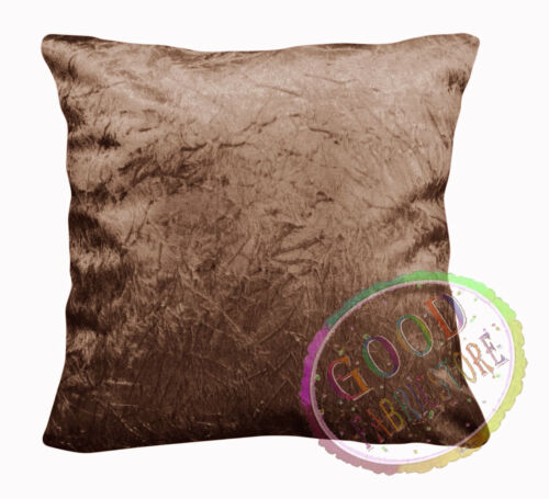 Mn124a Light Brown Crushed Velvet Style Cushion Cover//Pillow Case *Custom Size*