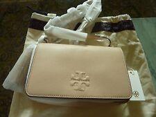 2037beda4f5  395 TORY BURCH  Thea Mini  Leather Crossbody Bag Purse Pebbled Sweet Melon  NWT