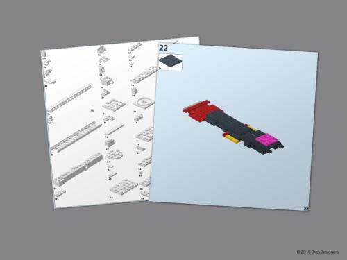NO BRICK Instructions /& Stickers to build a custom Lego Scania Aerial Platform