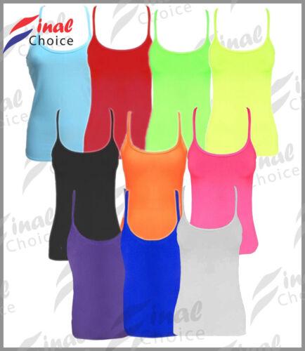 New Kids Children Stretchy Casual Neon Vest Tops Lycra Fancy Dance Party Dress •
