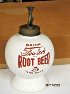 VINTAGE COUNTRY STORE  FOWLERS ROOTBEER SYRUP DISPENSER ORIGINAL FOWLERS PUMP