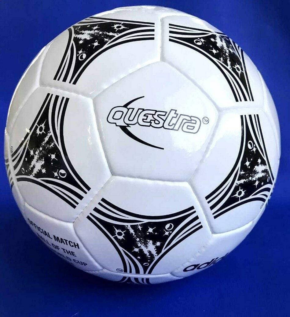 Adidas Questra Bola de Copa del Mundo 1994 hecho en Pakistán auténtico Bola