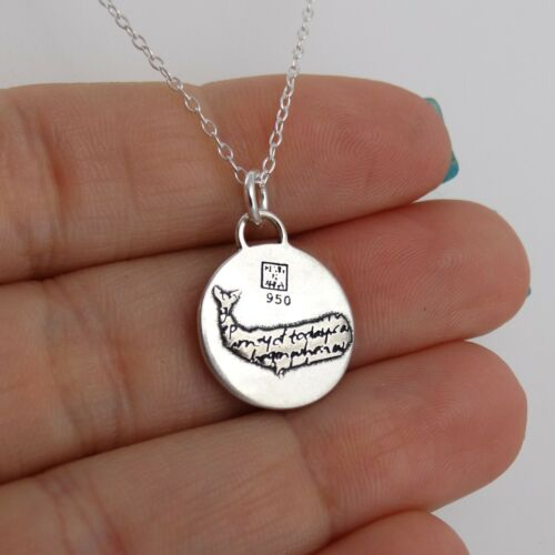 Whale Charm Necklace Handmade Inspirational Pendant NEW 950 Sterling Silver