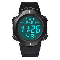 Men Women Digital Watch Sports LED Light Unisex Military Army Quartz Wristwatch
