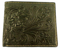 Black Tooled Montana West Western Men's Leather Wallet
