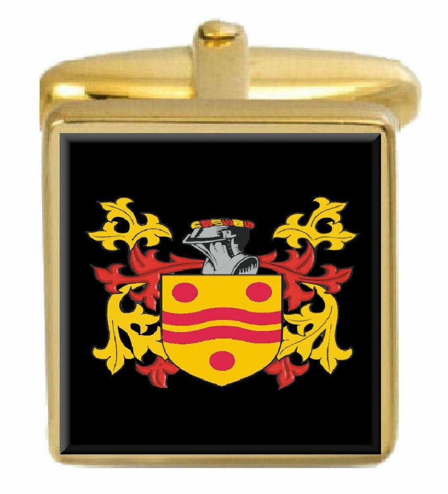Macardle Irlanda Famiglia Stemma Cognome Cognome Cognome Stemma oro Gemelli Inciso Scatola 56f2b5
