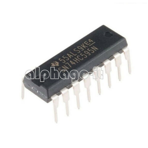 10//20//50//100PCS NEW SN74HC595N 74HC595 8-Bit Shift Register DIP-16 IC NEW
