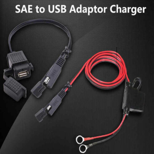 SAE to USB Cable Adapter Motorcycle Waterproof Adapters USB Charger Accessories