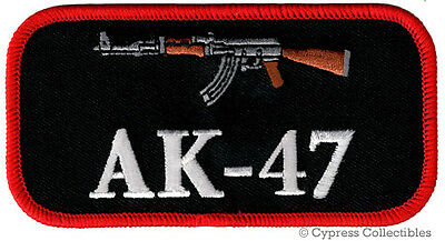 AK47 PATCH iron-on embroidered GUN Kalashnikov LOGO ASSAULT RIFLE 2nd AMENDMENT