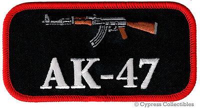 AK47 PATCH iron-on embroidered GUN Kalashnikov LOGO ASSAULT RIFLE 2nd AMENDMENT