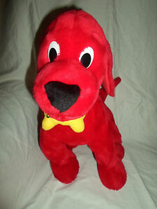 """Relaxed Clifford the Big Red Dog Storybook 15"""" Plush Soft Toy Stuffed Animal"""