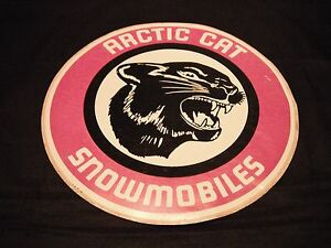 Vintage NOS Arctic Cat Snowmobiles Large Cat Head Decal (Right Facing)