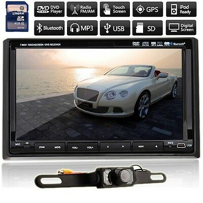 """Hot 7"""" HD LCD Double DIN Car GPS Stereo DVD Player Touch Screen Bluetooth+Camera"""