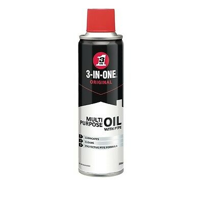 WD-40 44212 3 in One Multi Purpose Oil With PTFE 250ml Lubricant Cleaner
