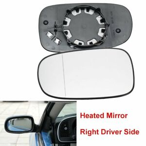 Right-Driver-Offside-Door-Wing-Mirror-Glass-Heated-For-SAAB-9-3-93-2003-2010