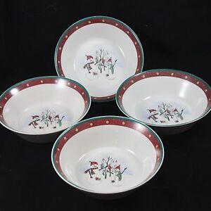Royal-Seasons-Snowmen-Soup-Cereal-Bowls-Set-of-11