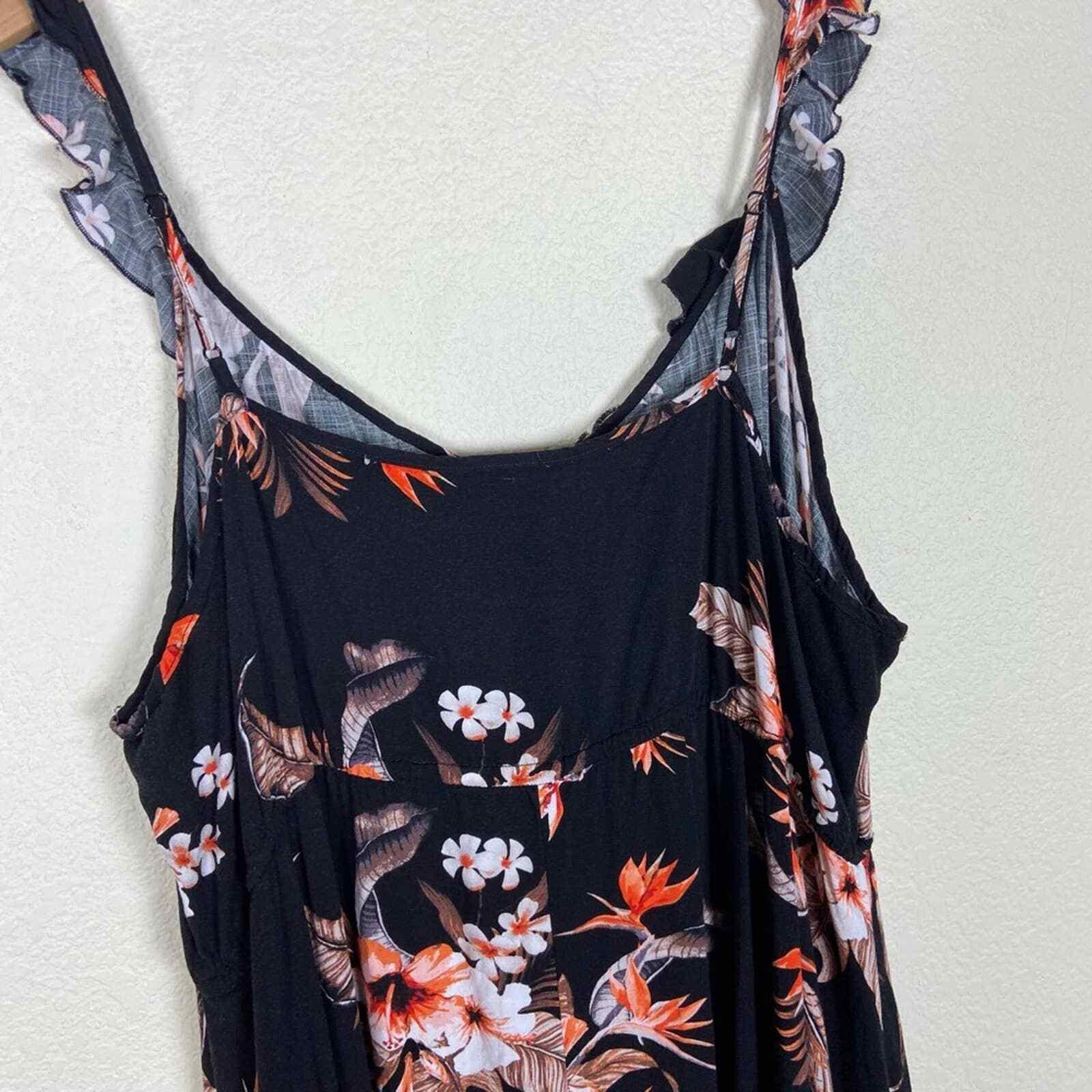 City Chic Seville Black Floral Swing Midi Dress - image 8