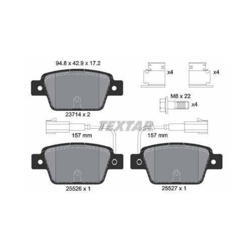 Bremsbeläge hinten für Fiat Bravo Lancia Delta Textar Bremsscheiben