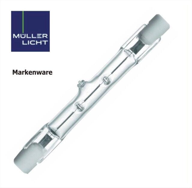 10x ECO Müller-Licht Halogenstab Halogen Strahler 150W 78,3mm R7s 230V 15705 OVP