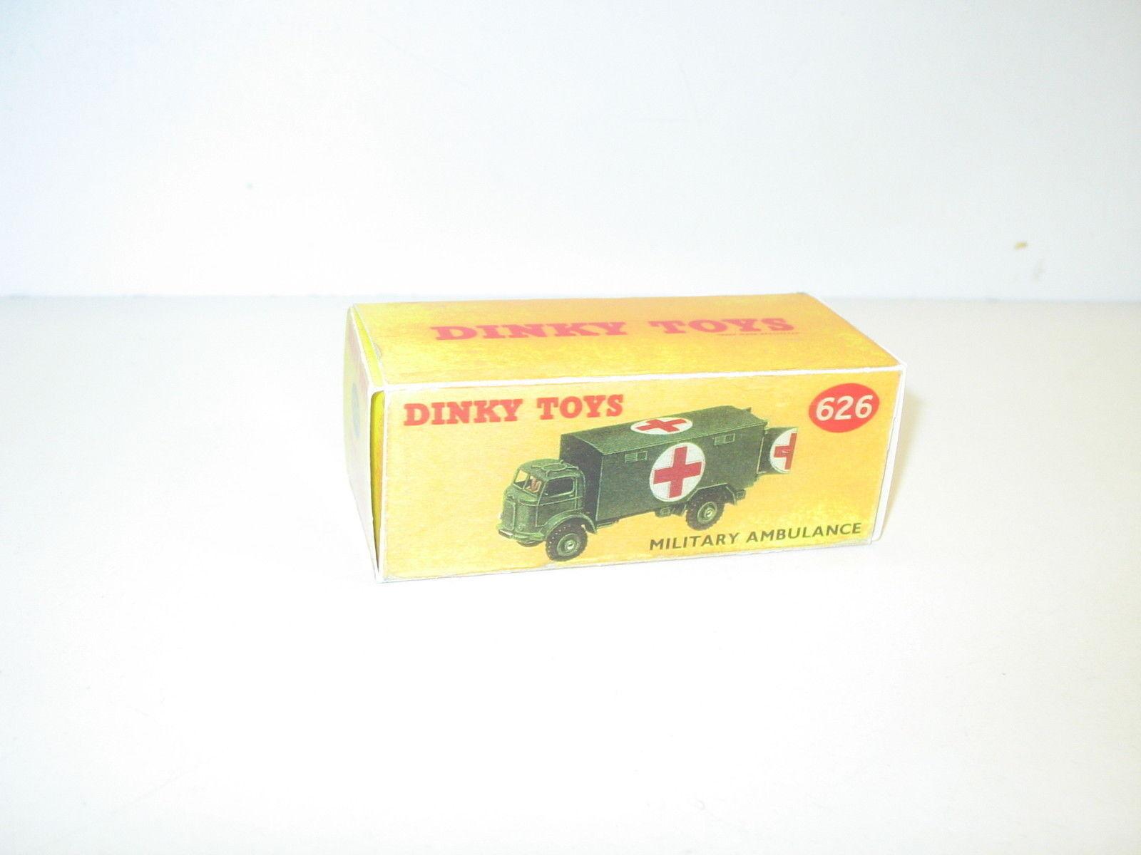 N54 Schachtel Lastwagen Commer Ambulanz Militär, REPRO Dinky Toys Ref. 626