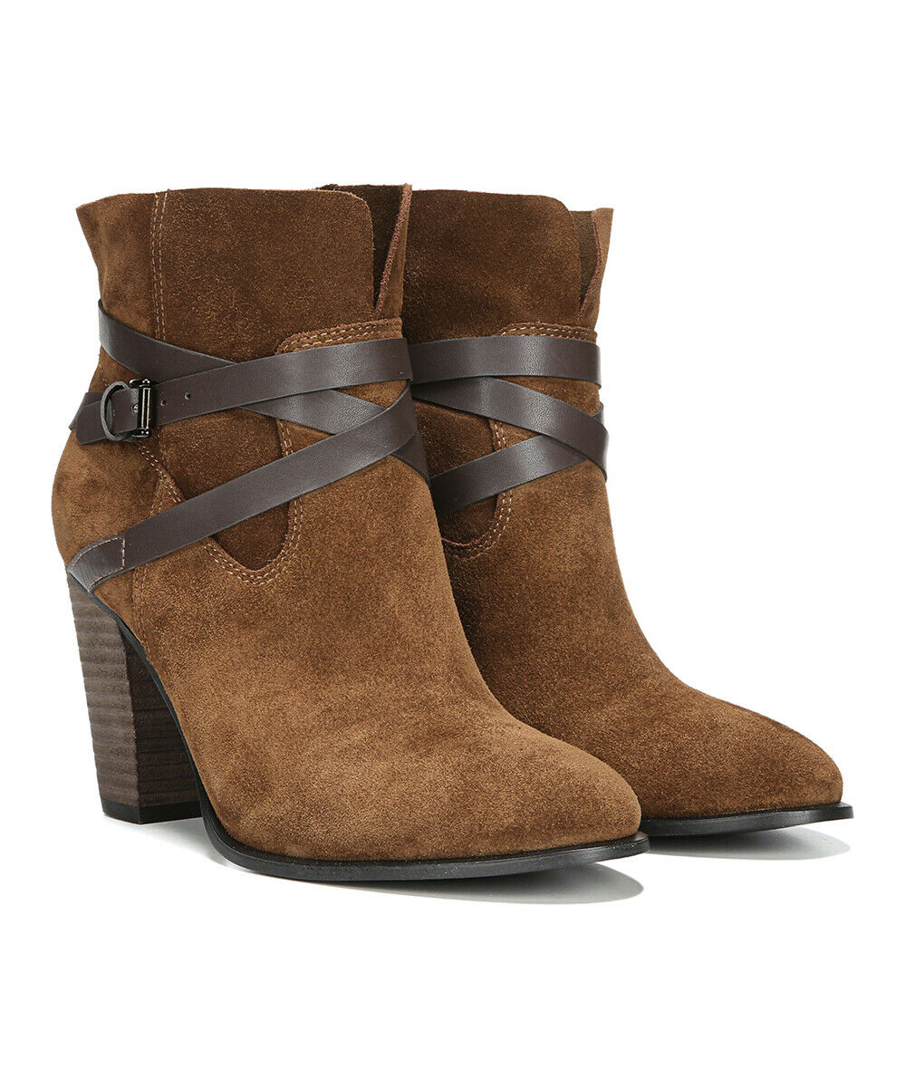 Carlos by Carlos Santana Women's Miles Ankle Booties Size 7M Bourbon Suede