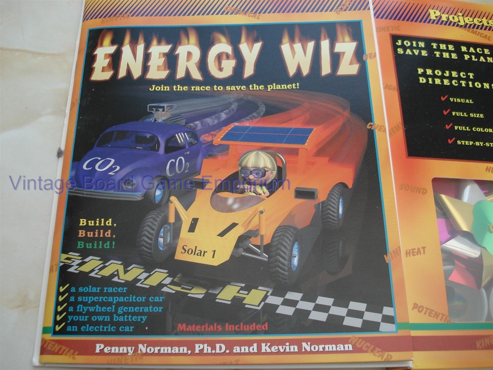ENERGY WIZ - PROJECTS IN ENERGY - LOOKS UNUSED  - SAVE THE PLANET - BUILD - FUN