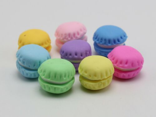 10 Mixed Pastel Color Flatback Resin Macarons Cookie Cabochon Scrapbooking Craft