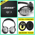 Replacement Cushions Ear Pads for BOSE QuietComfort 3 QC3  On Ear OE2 Headphones