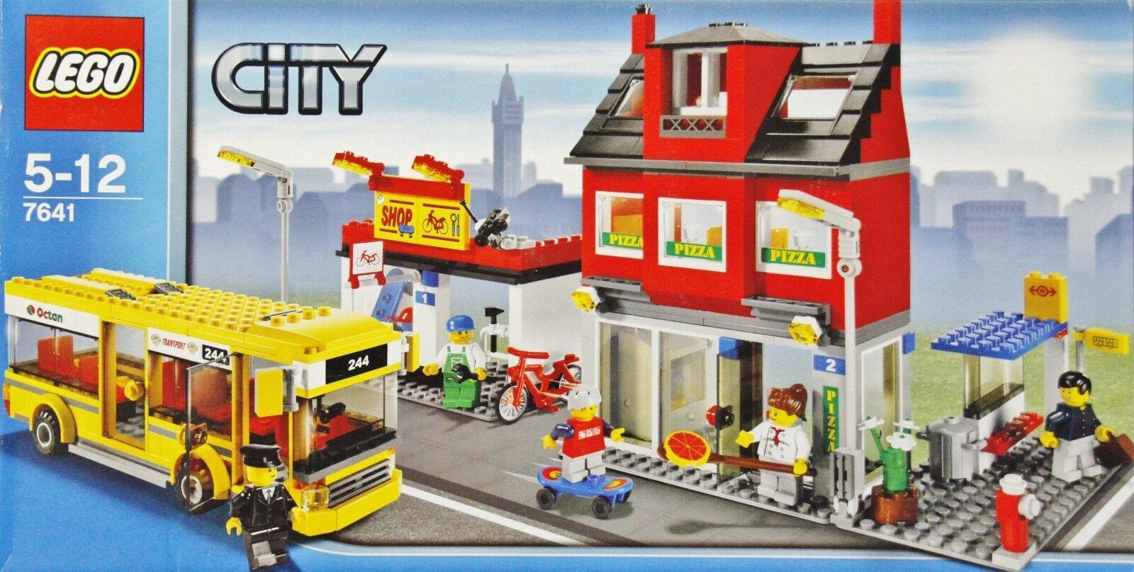 Lego City 7641 Stadtviertel mit Bus NEU Fahrrad Shop Pizzeria