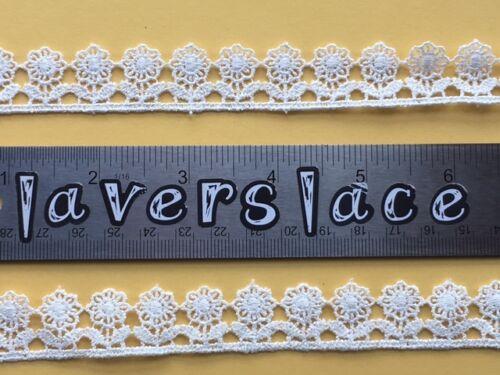 laverslace Little Flower Venise Guipure Lace Trim 2cm White Black Ivory Pink