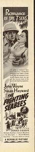 1944-John-Wayne-Susan-Hayward-The-Fighting-Bees-Vintage-Movie-Ad