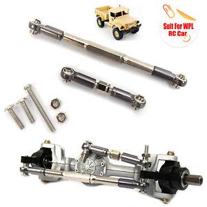 Actualizacion-de-metal-servo-Steering-pull-rod-piezas-para-WPL-1-16-RC-military-RC-Truck