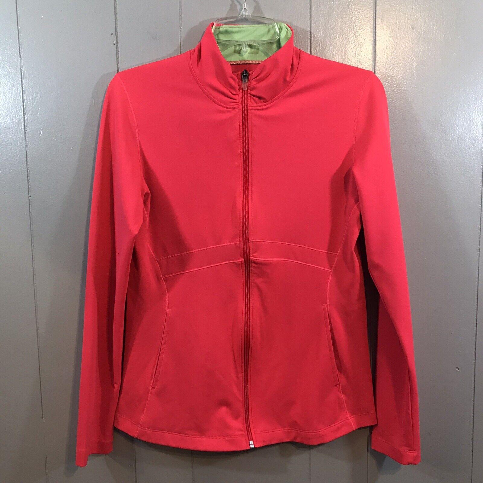 New Balance Hot Pink Slim Fit Full Zip Mock Neck Pockets Active Wear Top Medium