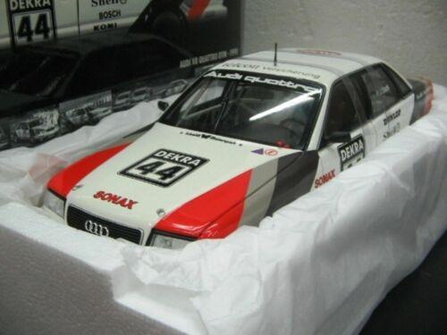 Wow extremadamente raro AUDI V8 Quattro 1990 #44 pegado campeón DTM 1:18 Minichamps