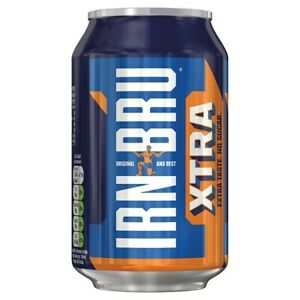 Details about IRN-BRU Xtra x 24 Cans of 330ml Refreshing Fizzy Drinks Low  Calorie 234603