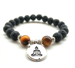 8mm-volcanic-Tiger-039-s-Bracelet-Stretchy-Lucky-mala-Gemstone-men-Sutra-Reiki-Wrist