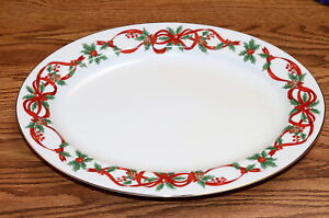 Noble-Excellence-12-Days-of-Christmas-OVAL-SERVING-PLATTER-Excellent