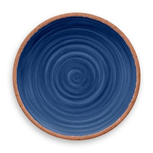 Dinnerware & Serving Dishes Rustic Swirl Indigo Blue Melamine ...