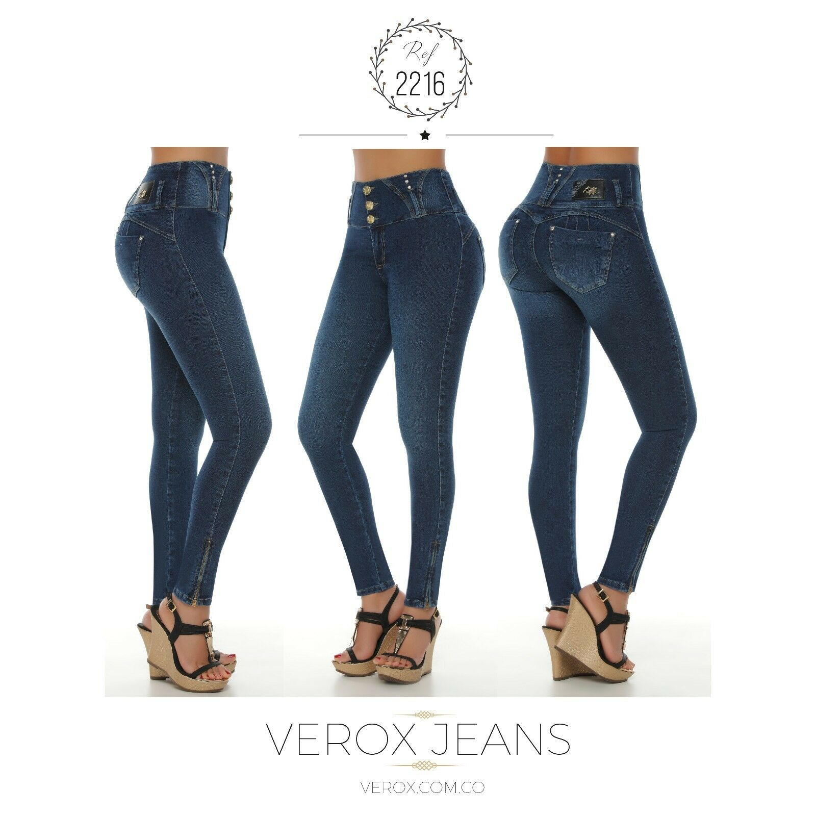 Verox Jeans colombianos butt lifter fajas colombianas jeans levanta cola 2216