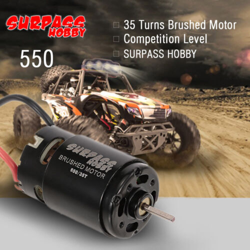 SURPASS HOBBY 550 35T Brushed Motor for HSP HPI Wltoys Kyosho TRAXXAS 1//10 Z3I2
